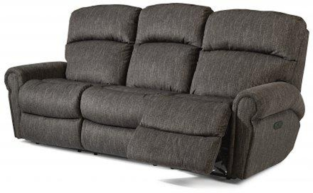 Sensational Flexsteel Langston Fabric Power Reclining Sofa With Power Unemploymentrelief Wooden Chair Designs For Living Room Unemploymentrelieforg