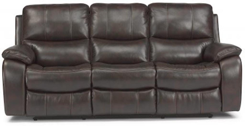 Swell Flexsteel Woodstock Fabric Power Reclining Sofa 1298 62P 580 Machost Co Dining Chair Design Ideas Machostcouk