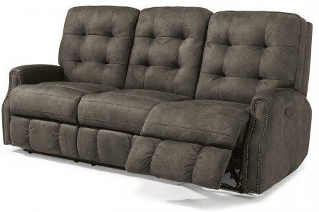 Awesome Flexsteel Devon Fabric Reclining Sofa With Nailhead Trim Squirreltailoven Fun Painted Chair Ideas Images Squirreltailovenorg