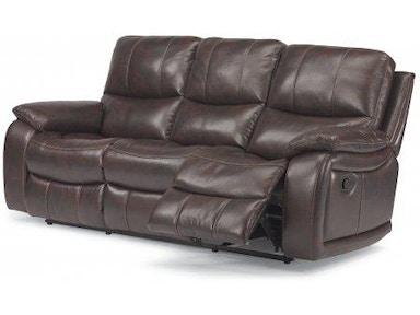 Incredible Flexsteel Woodstock Fabric Power Reclining Sofa 1298 62P 580 Machost Co Dining Chair Design Ideas Machostcouk
