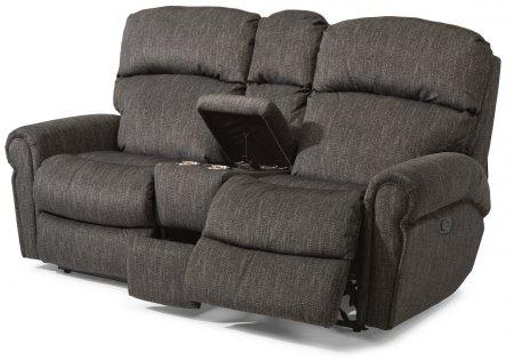 Awesome Flexsteel Langston Fabric Reclining Loveseat With Console Alphanode Cool Chair Designs And Ideas Alphanodeonline