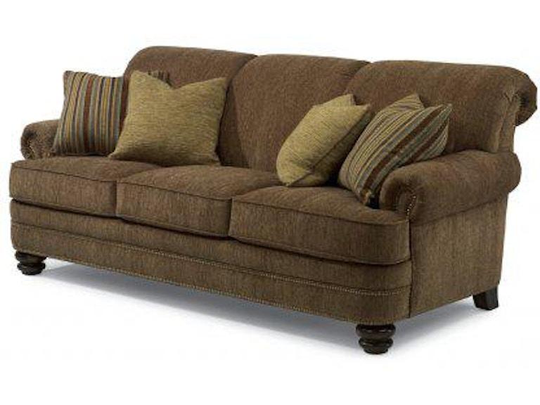Brilliant Flexsteel Bay Bridge Fabric Sofa With Nailhead Trim 7791 31 Ncnpc Chair Design For Home Ncnpcorg