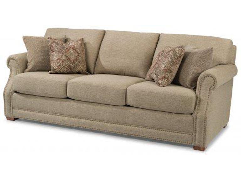 Flexsteel Coburn Fabric Sofa With Nailhead Trim 7930 31 In Portland Oregon