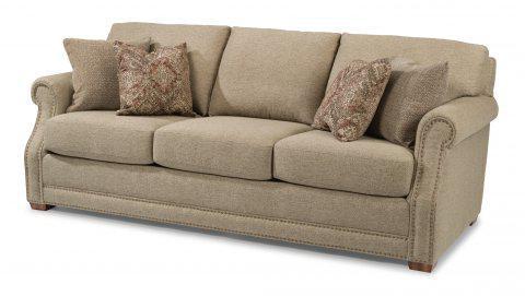 Flexsteel Coburn Fabric Sofa With Nailhead Trim 7930 31 In Portland, Oregon