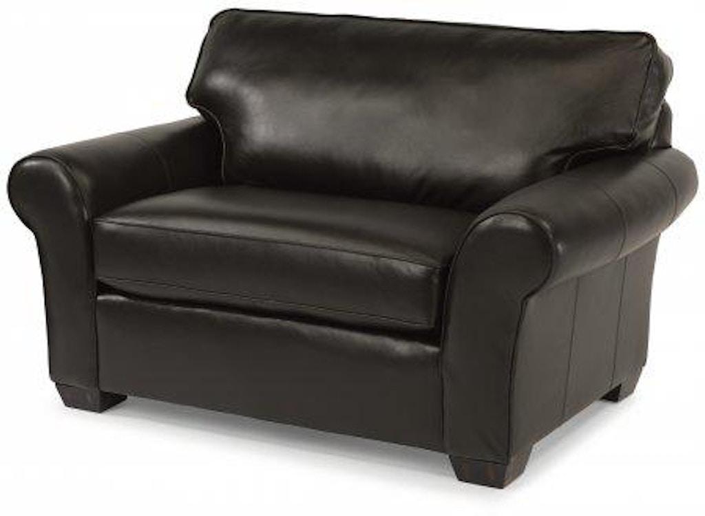 Remarkable Flexsteel Vail Leather Chair And A Half 3305 101 Portland Inzonedesignstudio Interior Chair Design Inzonedesignstudiocom