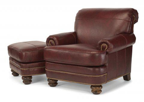 Flexsteel Bay Bridge Leather Chair With