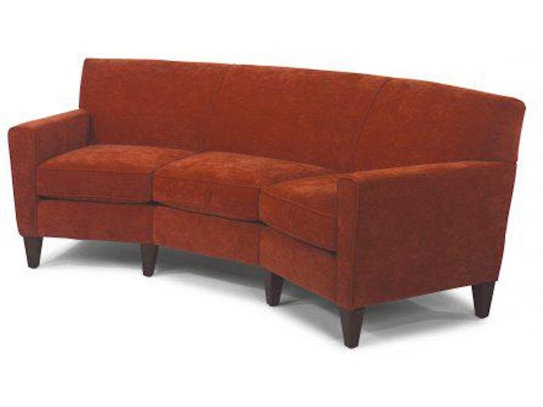Flexsteel Leather Conversation Sofa 3966 323 In Portland Oregon