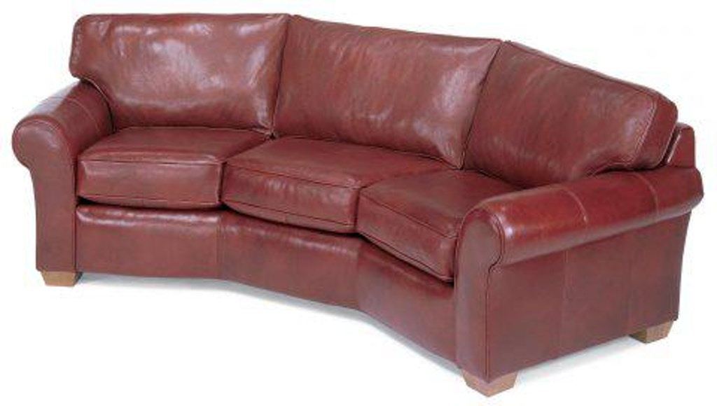 Flexsteel Vail Leather Conversation Sofa 3305-323 - Portland ...