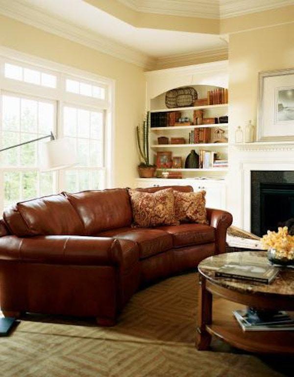 Flexsteel Vail Leather Conversation Sofa 3305-323 - Portland ...