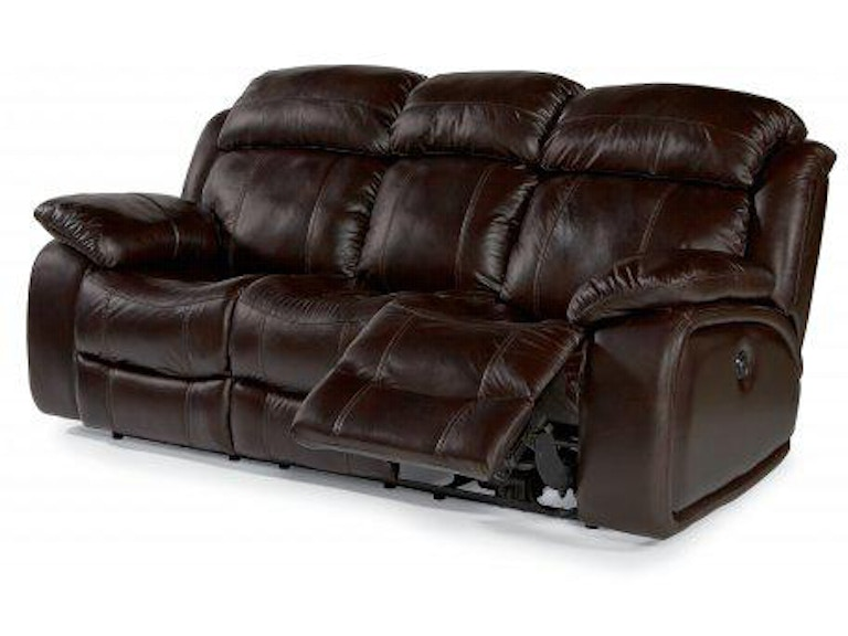 Sensational Flexsteel Como Leather Power Reclining Sofa 1409 62P Gmtry Best Dining Table And Chair Ideas Images Gmtryco