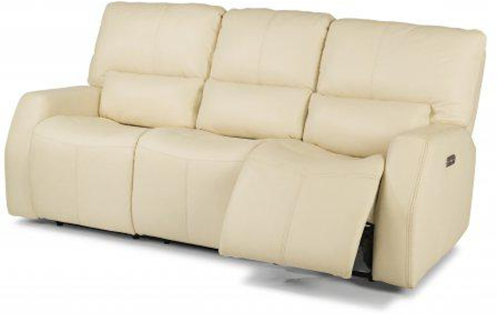 Cool Flexsteel Cooper Leather Power Reclining Sofa With Power Andrewgaddart Wooden Chair Designs For Living Room Andrewgaddartcom