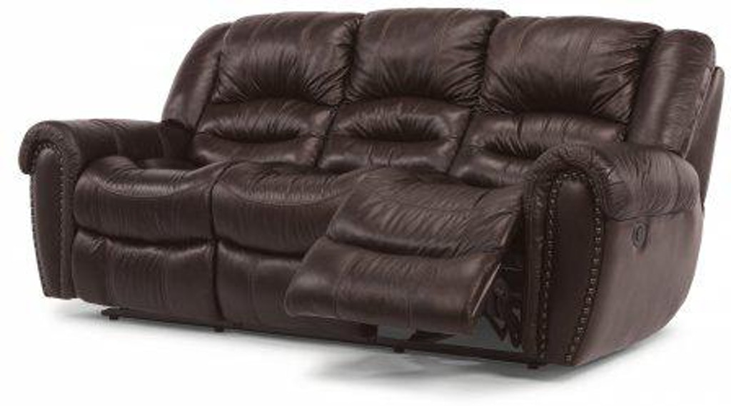 Flexsteel Crosstown Leather Power Reclining Sofa 1210 62p
