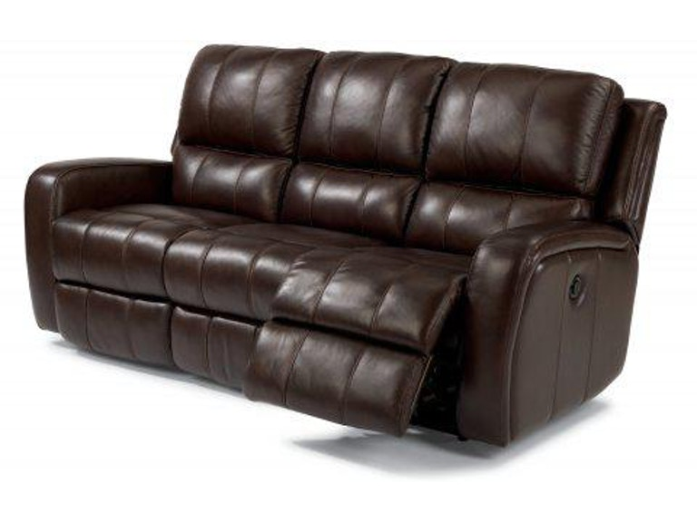 Flexsteel Hammond Leather Power Reclining Sofa 1157-62P - Portland ...