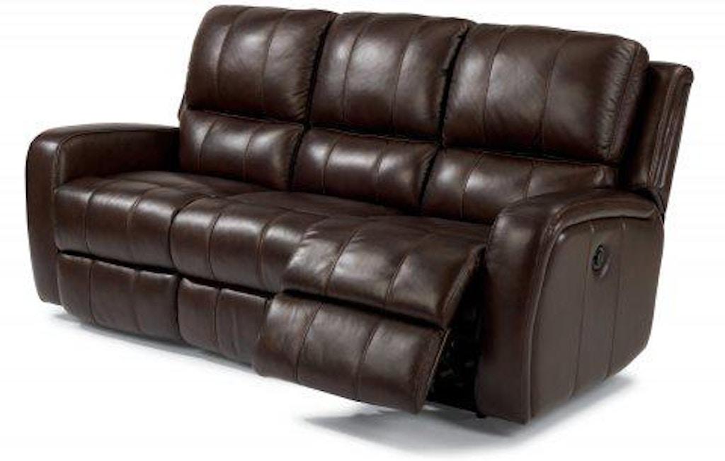 Flexsteel Hammond Leather Power Reclining Sofa 1157-62P ...