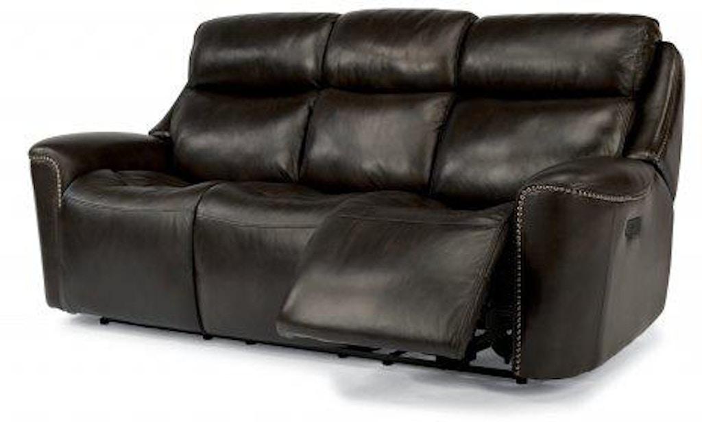 Strange Flexsteel Mystic Leather Power Reclining Sofa W Power Squirreltailoven Fun Painted Chair Ideas Images Squirreltailovenorg