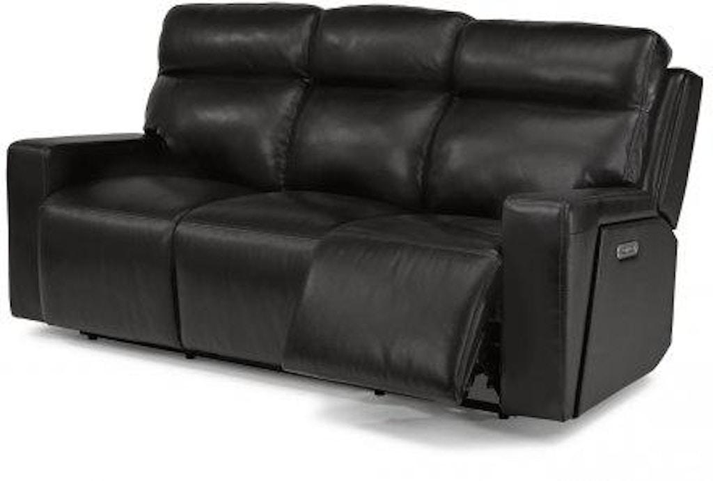 Strange Flexsteel Niko Leather Power Reclining Sofa W Power Ncnpc Chair Design For Home Ncnpcorg