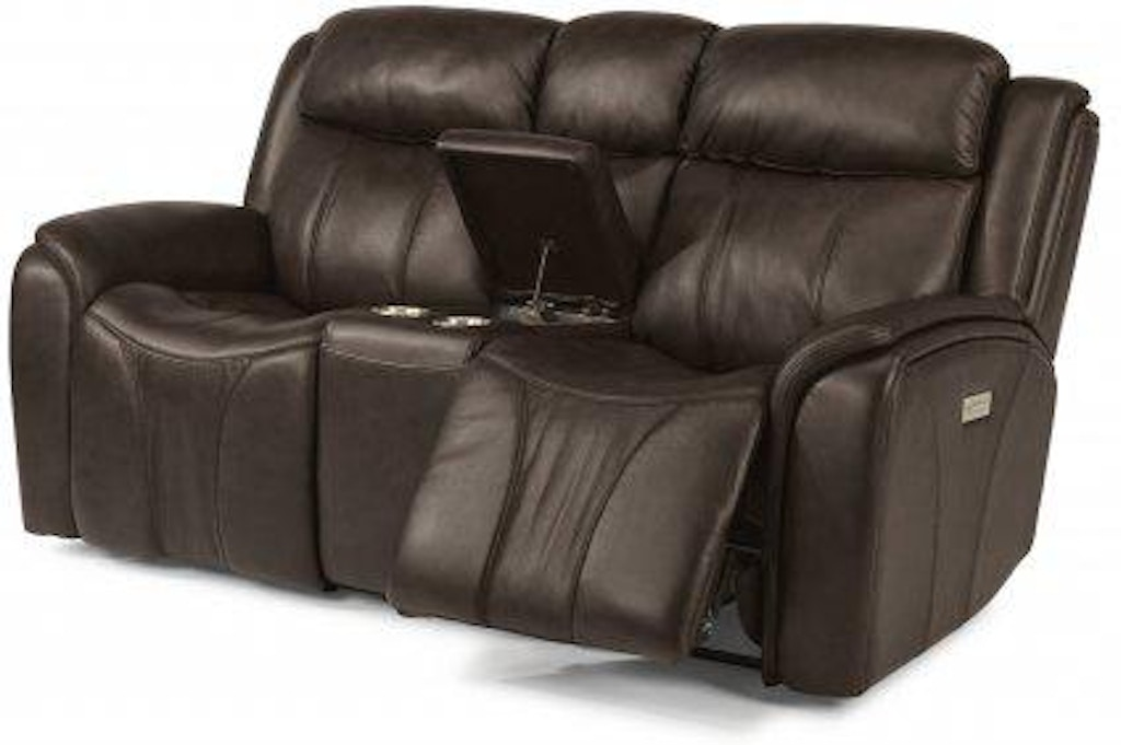 Sensational Flexsteel Paisley Leather Power Reclining Loveseat With Gmtry Best Dining Table And Chair Ideas Images Gmtryco