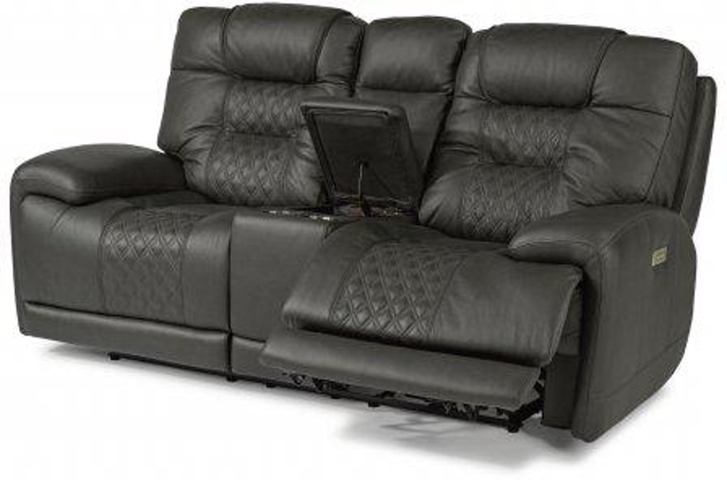 Brilliant Flexsteel Royce Leather Power Reclining Loveseat With Andrewgaddart Wooden Chair Designs For Living Room Andrewgaddartcom