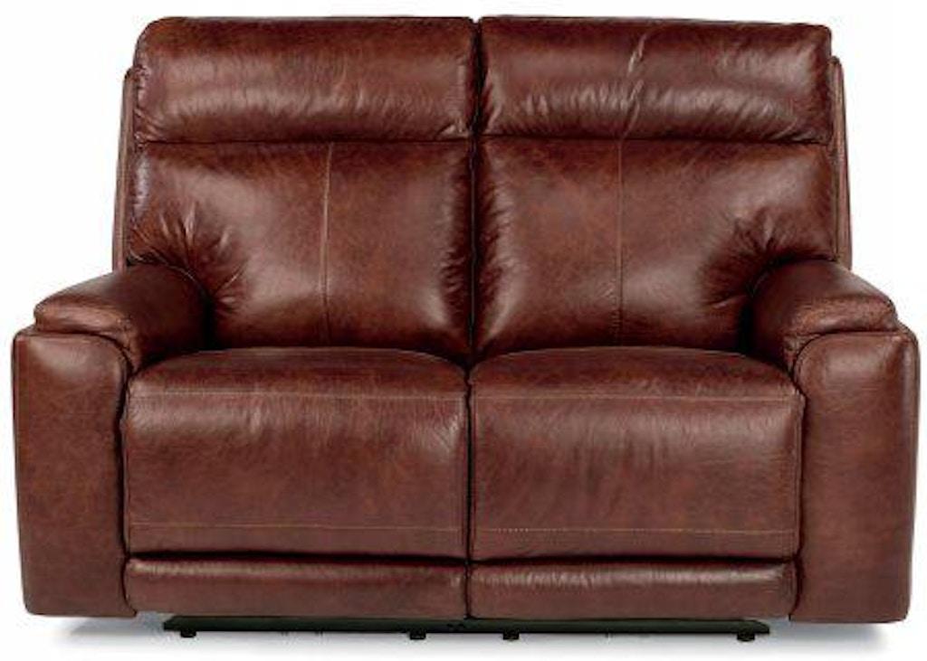 Wondrous Flexsteel Sienna Leather Power Reclining Loveseat W Power Machost Co Dining Chair Design Ideas Machostcouk