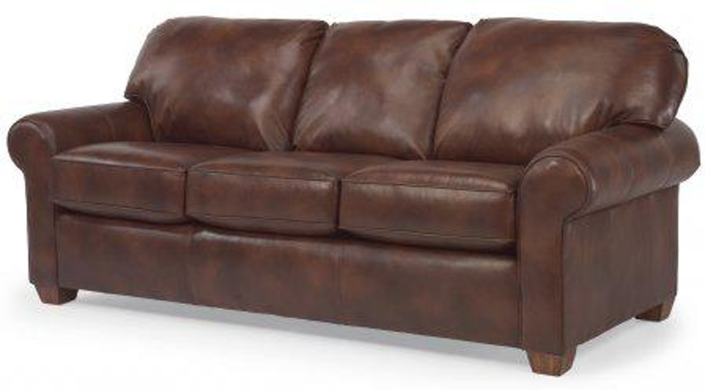 Flexsteel Thornton Leather Queen Sofa Sleeper 3535-44 ...