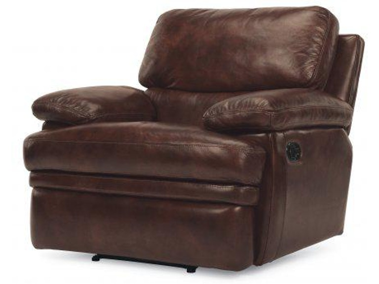 Flexsteel Dylan Leather Recliner Without Chaise Footrest