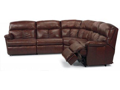 Flexsteel Triton Fabric Reclining Sectional 7098 Sect