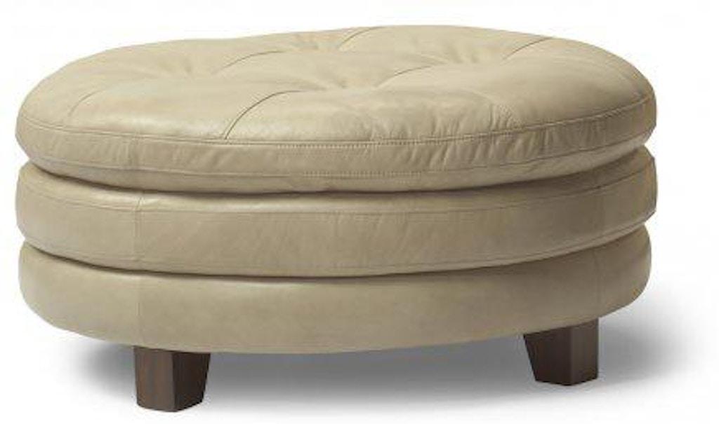 Sensational Flexsteel South Street Leather Round Cocktail Ottoman 1644 Short Links Chair Design For Home Short Linksinfo