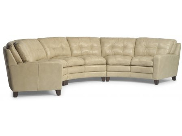 Flexsteel South Street South Leather Sofa 1644 31 014 75