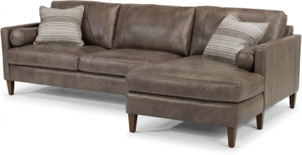 Peachy Flexsteel Vivian Leather Sectional 1195 Sect Portland Or Evergreenethics Interior Chair Design Evergreenethicsorg