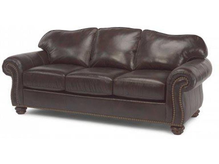 Flexsteel Bexley Leather Sofa With Nailhead Trim 3648-31 - Portland ...