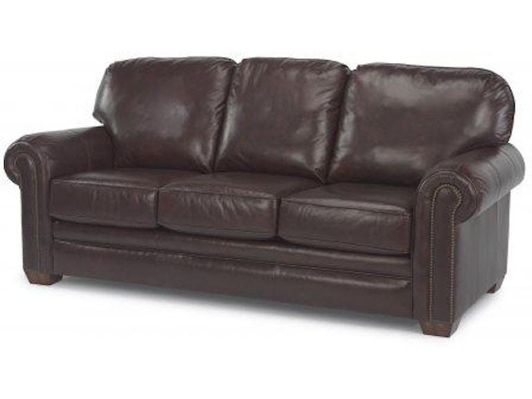 Terrific Flexsteel Harrison Leather Sofa With Nailhead Trim 3270 31 Creativecarmelina Interior Chair Design Creativecarmelinacom