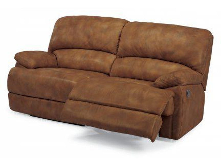 Flexsteel Dylan Leather Two Cushion Power Reclining Sofa