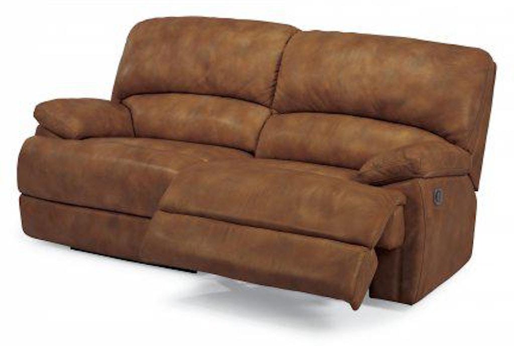 Flexsteel Dylan Leather Two Cushion Power Reclining Sofa