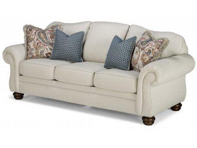 Flexsteel Bexley One Tone Fabric Sofa Without Nailhead