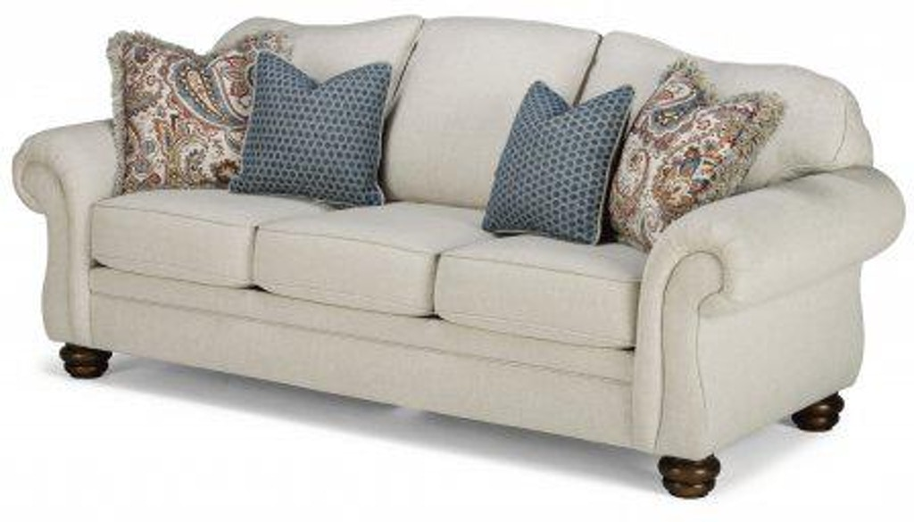Flexsteel Bexley One Tone Fabric Sofa