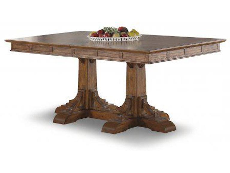 Flexsteel Sonora Rectangular Pedestal Dining Table W1134 830