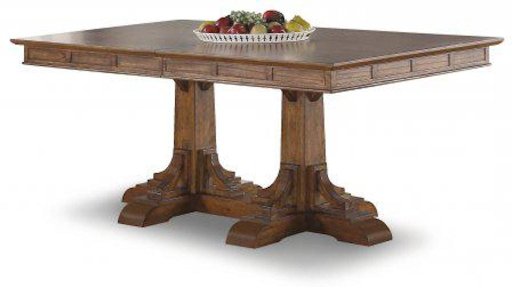 Flexsteel Sonora Rectangular Pedestal Dining Table W1134 830 Portland Or Key Home Furnishings