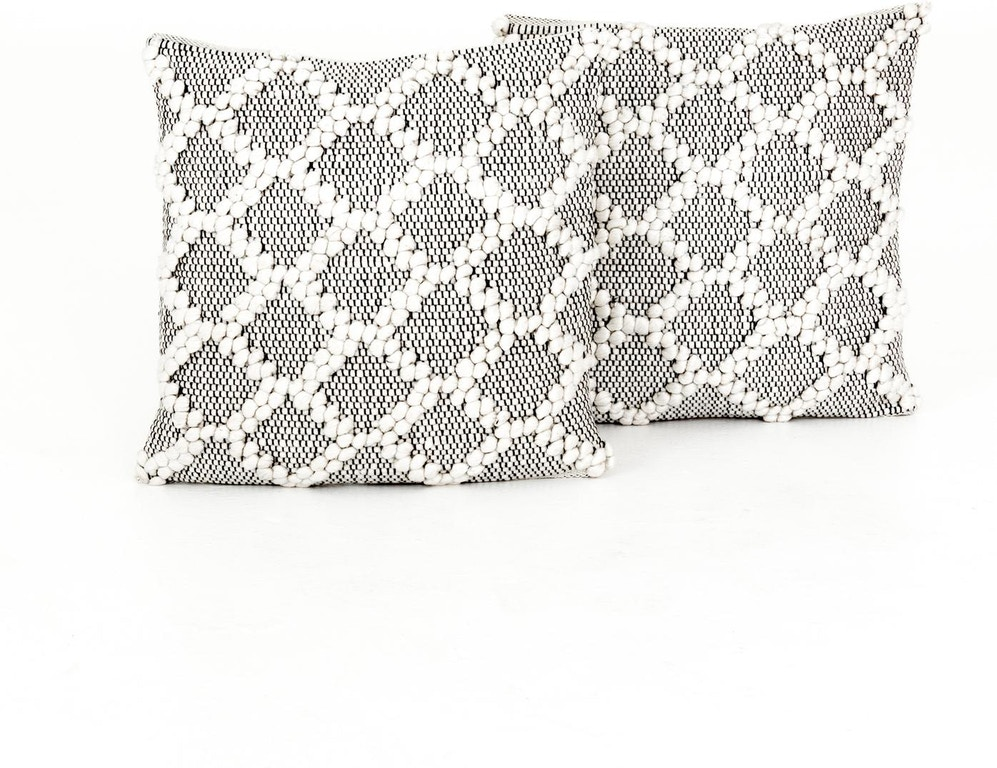 Four Hands Black And Cream Diamond Pillow Set Of 2 Iwil 285 Portland Or Key Home Furnishings