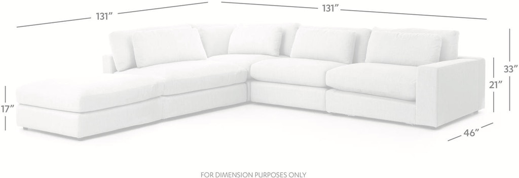 Miraculous Bloor 4 Piece Sectional W Ottoman Pabps2019 Chair Design Images Pabps2019Com