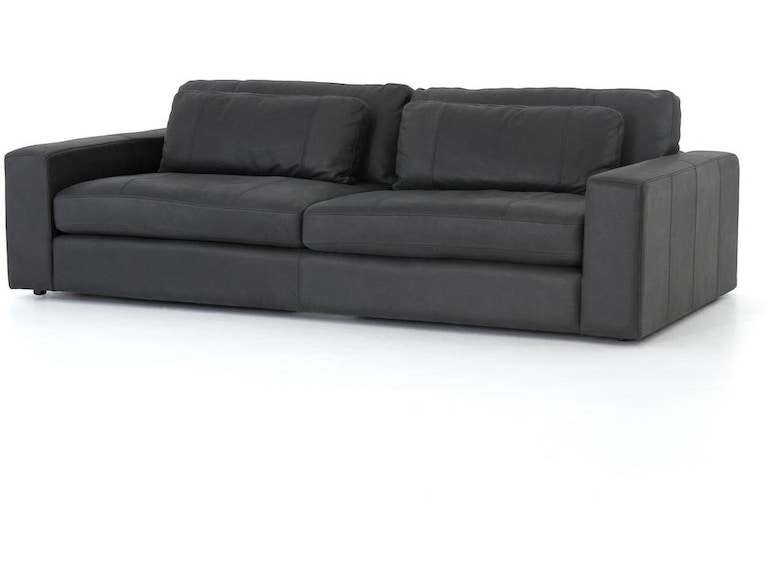 Bloor Leather Sofa 98 Umber Black