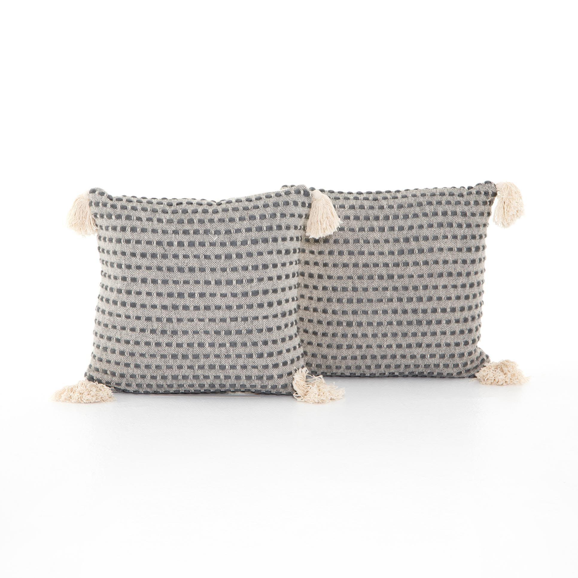 Four Hands Briella Pillow Set Of 2 20 Grey White Inom 077a Portland Or Key Home Furnishings