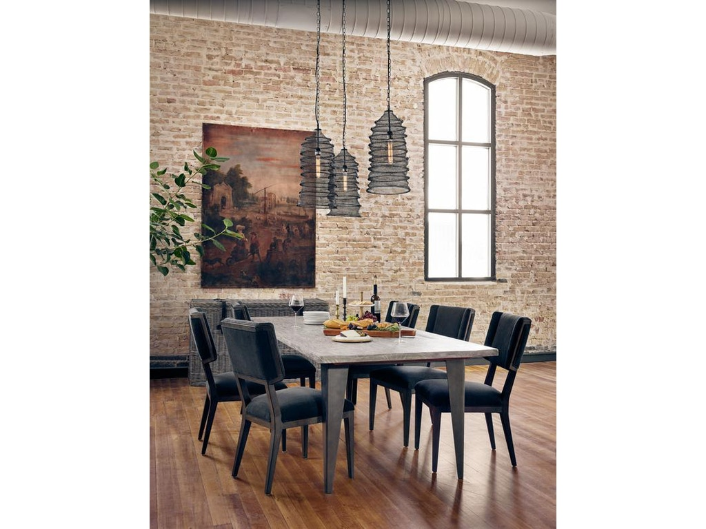 Four Hands Charcoal & Iron Dining Table ISD-0183 ISD-0183 ...