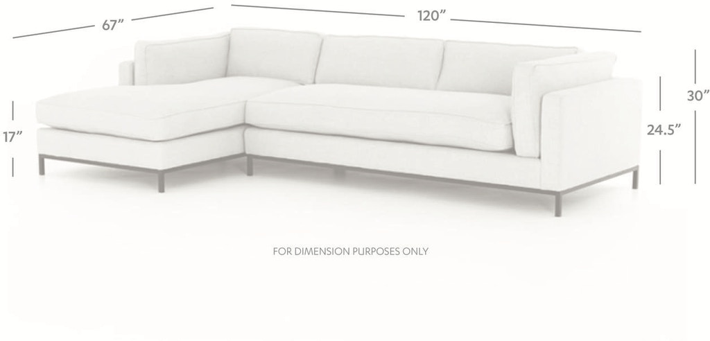 Outstanding Grammercy 2 Piece Chaise Sectional Andrewgaddart Wooden Chair Designs For Living Room Andrewgaddartcom