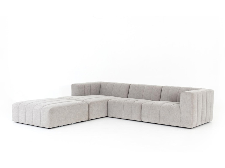 Four Hands Langham Channeled 3 Pc Sectional W Ottoman Cgry 001 320 S1 Portland Or Key Home