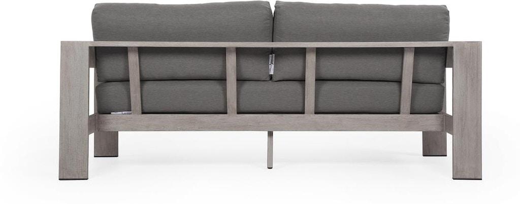 Monterey Outdoor 2 Seater Sofa 74 Grey