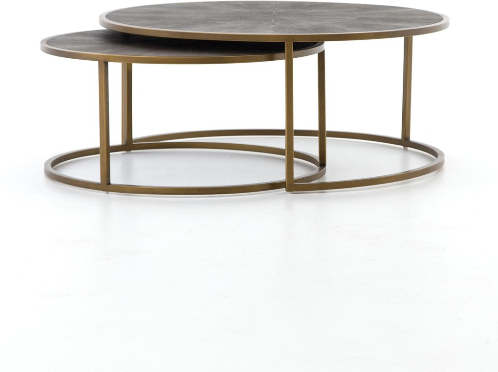 Four Hands Shagreen Nesting Coffee Table Vben 018 Portland Or Key Home Furnishings