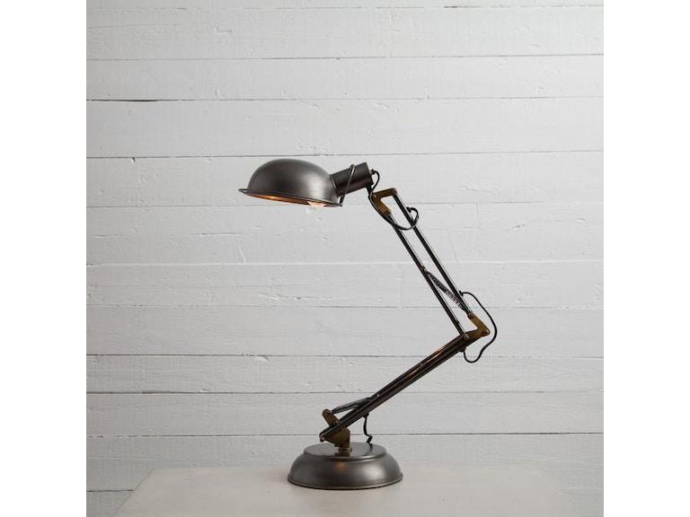 Four Hands Spring Desk Lamp Pewter Isun