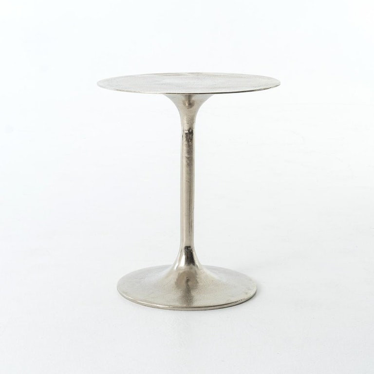 Four Hands Tulip Side Table Raw Nickel Imar 27 Rnk Portland Or