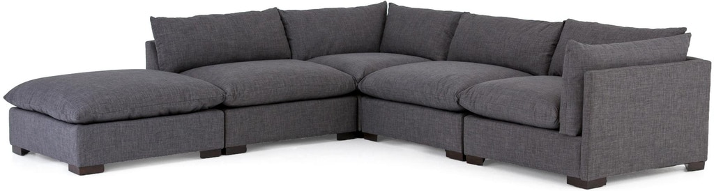 Enjoyable Westwood 4 Piece Sectional W Ottoman Pabps2019 Chair Design Images Pabps2019Com