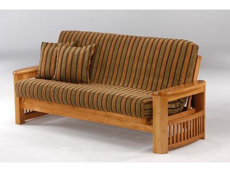 Night And Day Furniture Shadow Chair Futon Frame In Medium Oak Finish Sa Moo